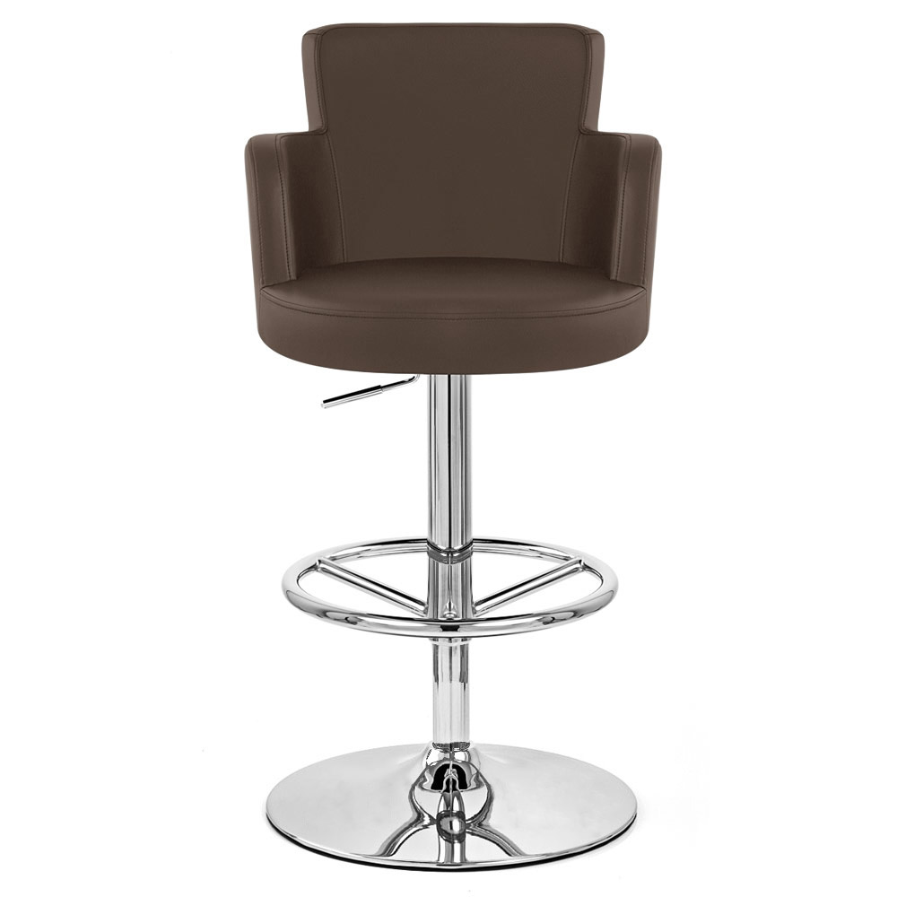 Chateau Adjustable Height Swivel Bar Stool With Chrome Base Zuri Furniture