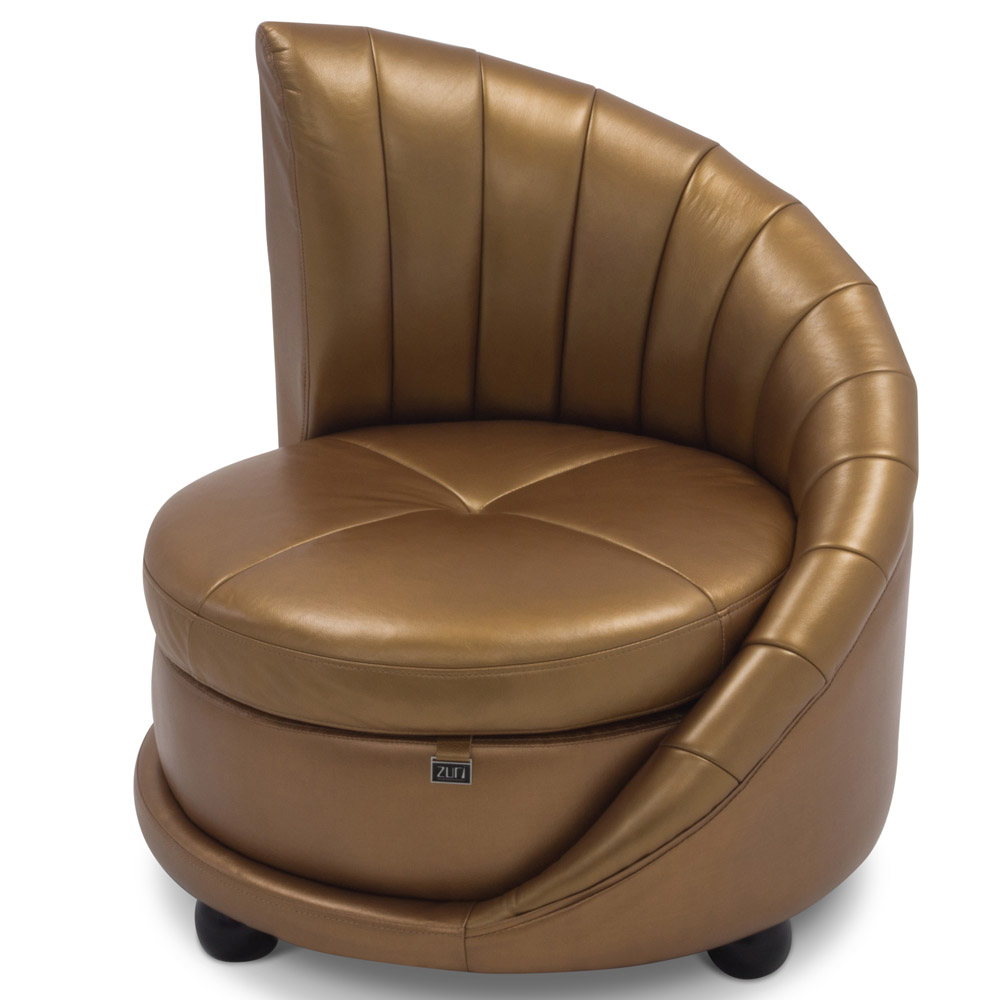 Comfortable Contemporary Furniture: Chelsey Contemporary Comfortable Leather Lounge Chair