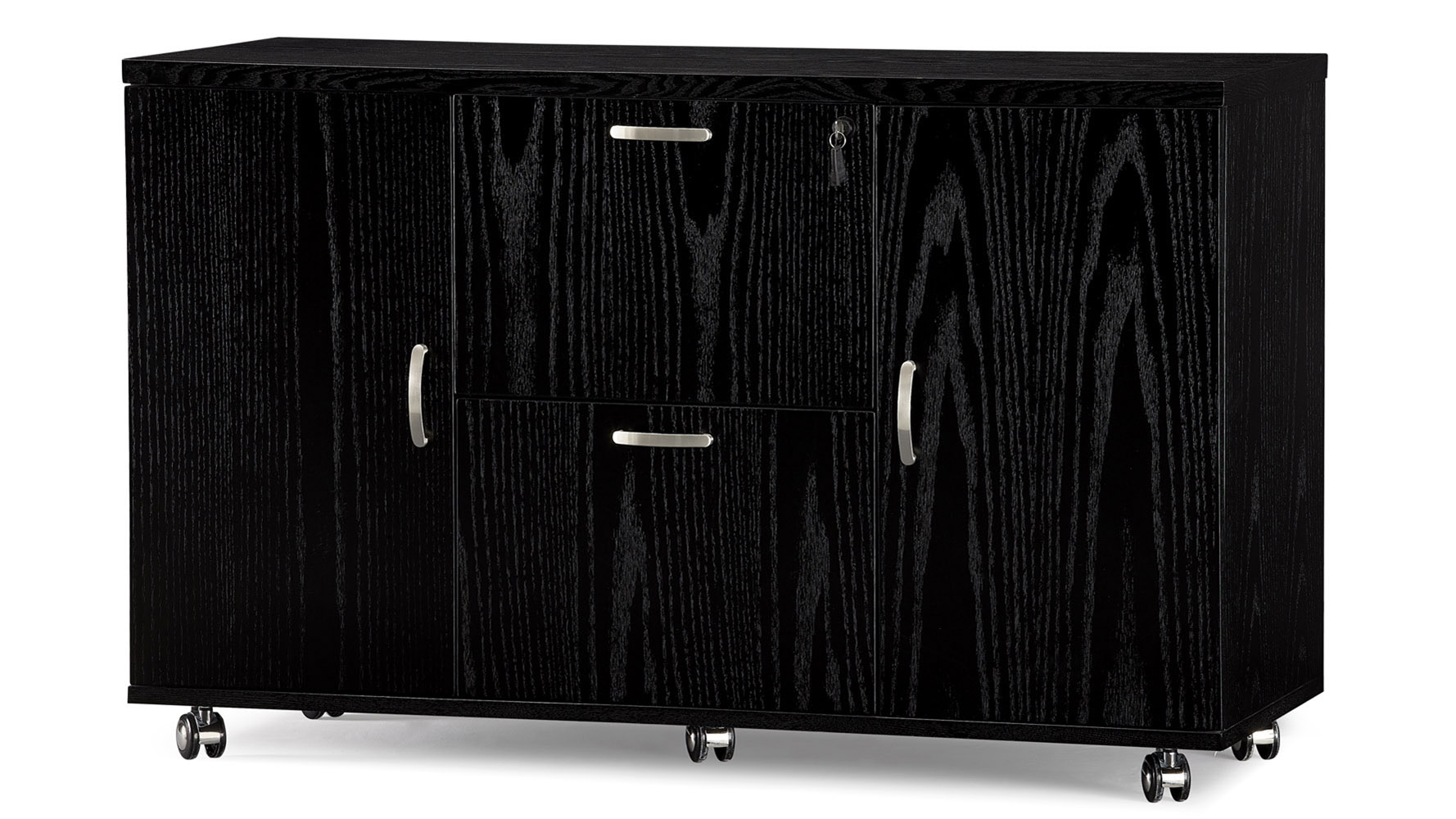 Cleveland Black Wood Side Cabinet