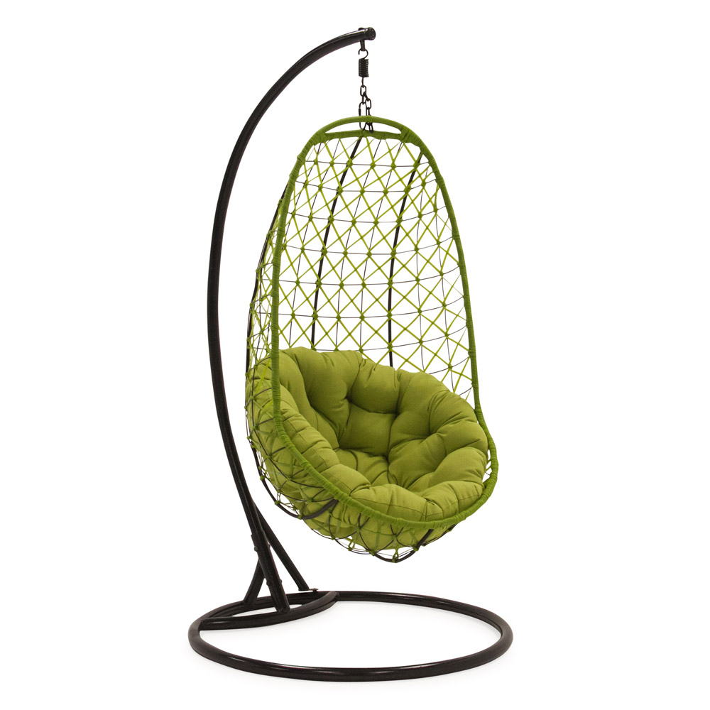 Comfortable Egg Shaped Rattan Outdoor Euro Swing Chair