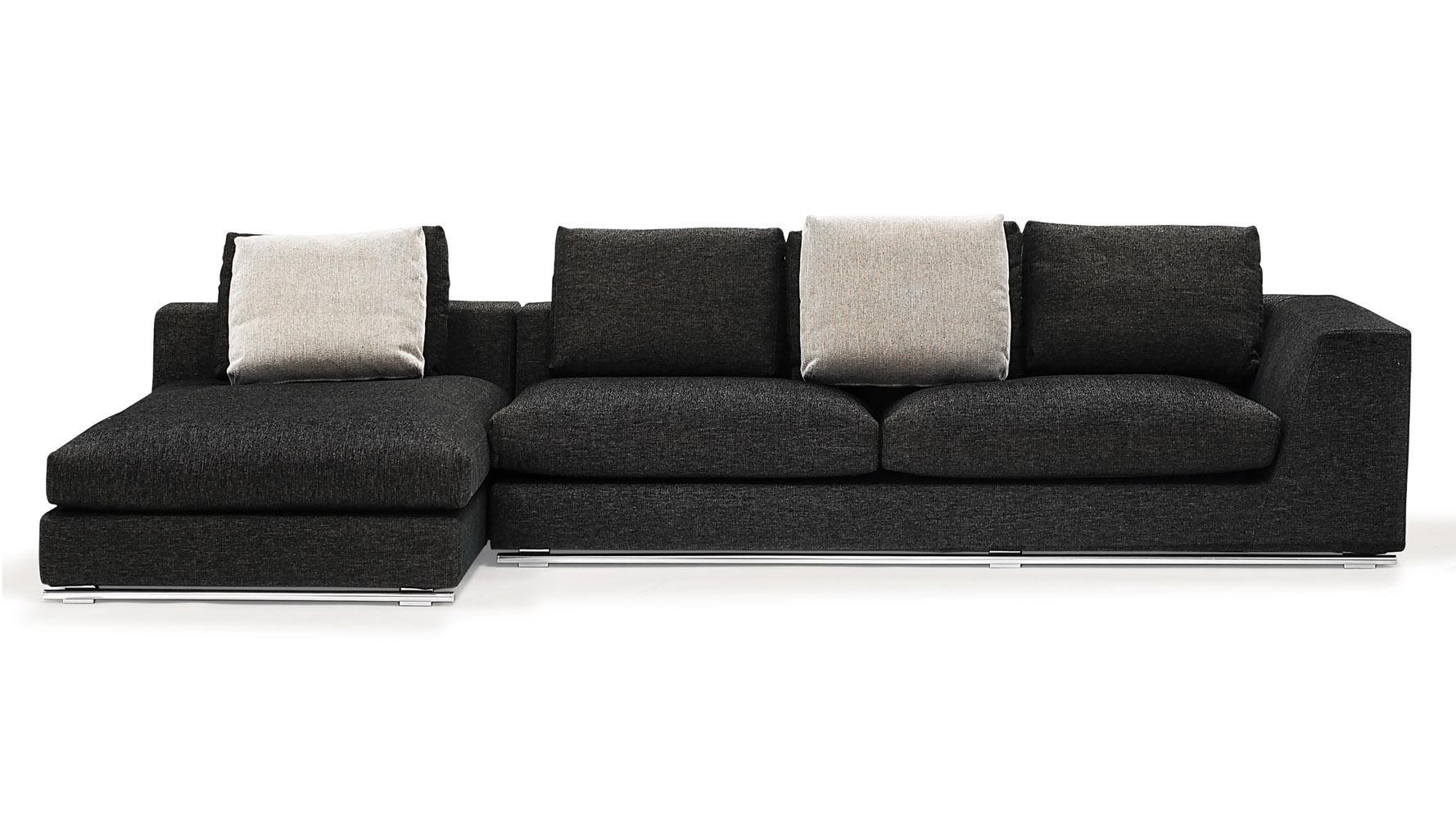 odo Sectional Sofa With Ottoman Charcoal