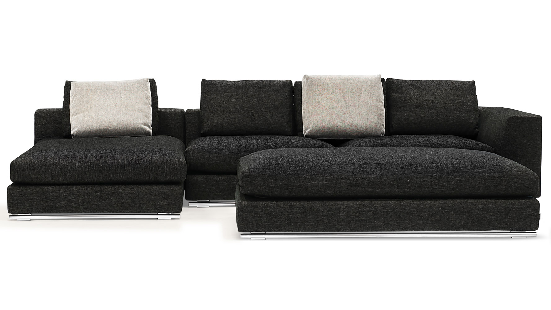 Comodo Sectional   Charcoal