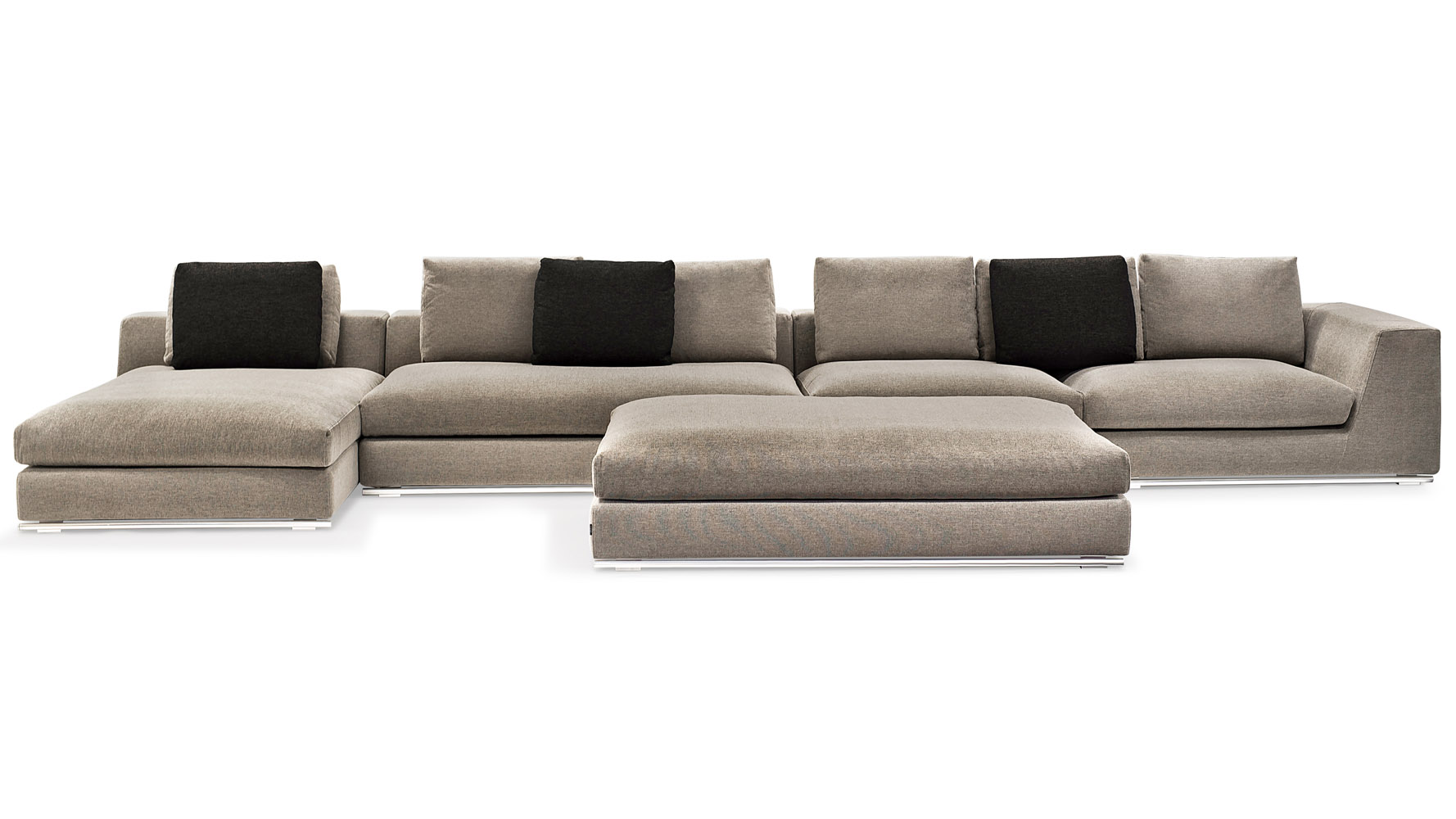 Comodo Sectional - Grey  sc 1 st  Zuri Furniture : sectional sofa left chaise - Sectionals, Sofas & Couches