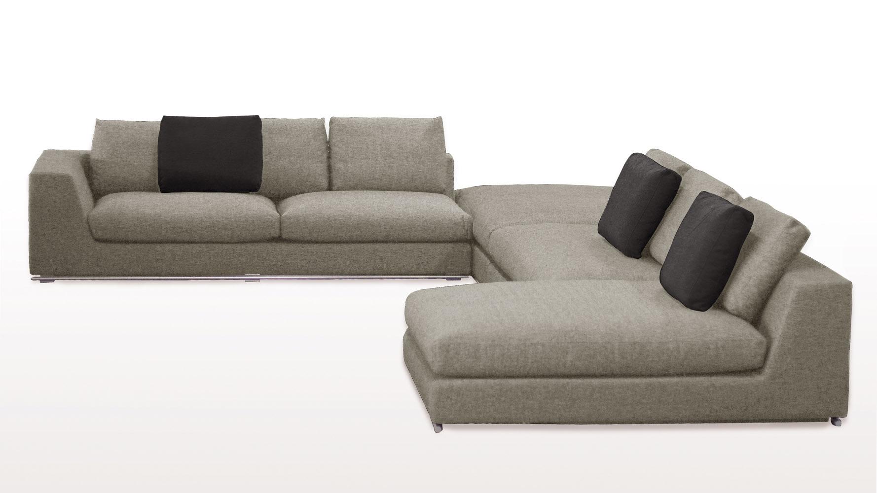 comodo sectional sofa with ottoman  grey  zuri furniture -