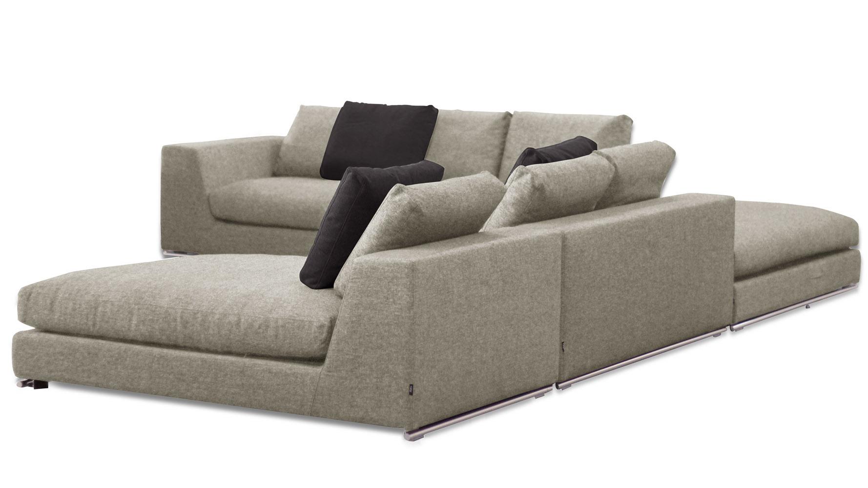 Comodo Sectional Sofa With Ottoman Grey Zuri Furniture ~ Sofa With Chaise Ottoman