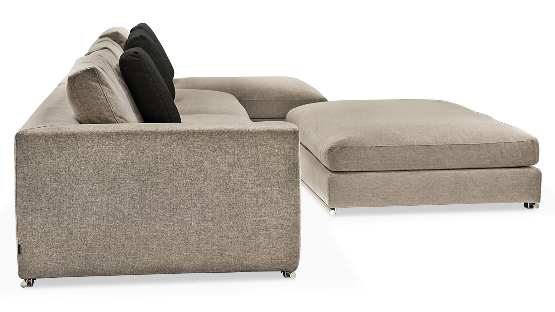 Comodo Sectional Sofa With Ottoman Grey Zuri Furniture ~ One Arm Sofa With Chaise