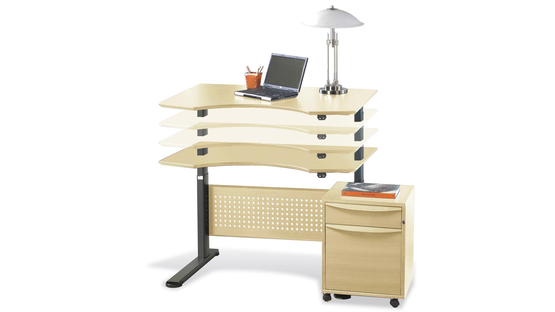 Contemporary motorized dexter sit stand desk 47 zuri for Motorized sit stand desk