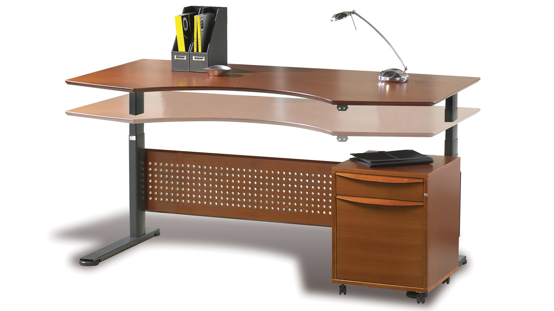 Contemporary motorized dexter sit stand desk 63 zuri for Motorized sit stand desk