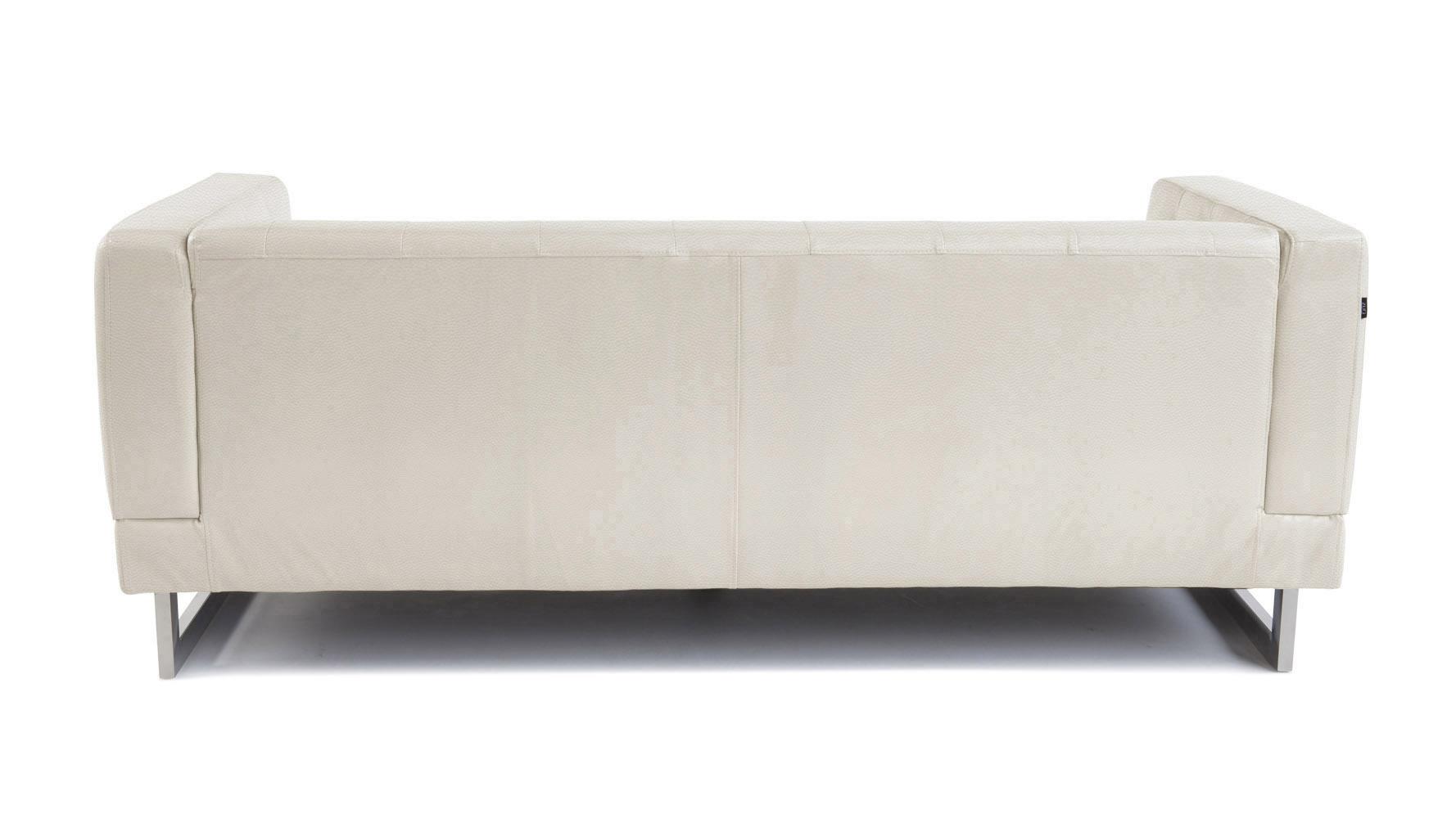 Cream Zeta Tufted Sofa Set With Armchairs Zuri Furniture ~ Cream Leather Tufted Sofa