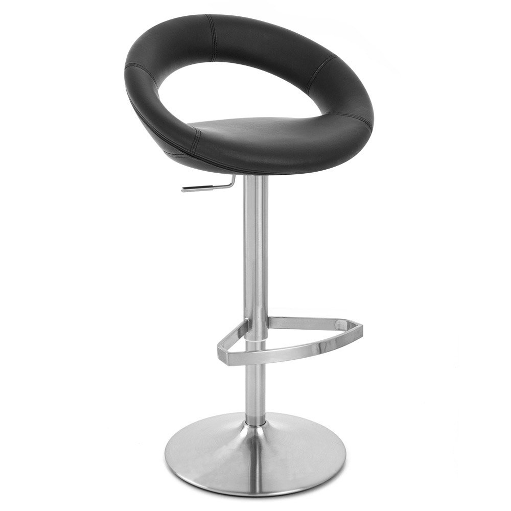 Black Crescent Adjustable Height Swivel Armless Bar Stool | Zuri Furniture  sc 1 st  Zuri Furniture & Black Crescent Adjustable Height Swivel Armless Bar Stool | Zuri ... islam-shia.org