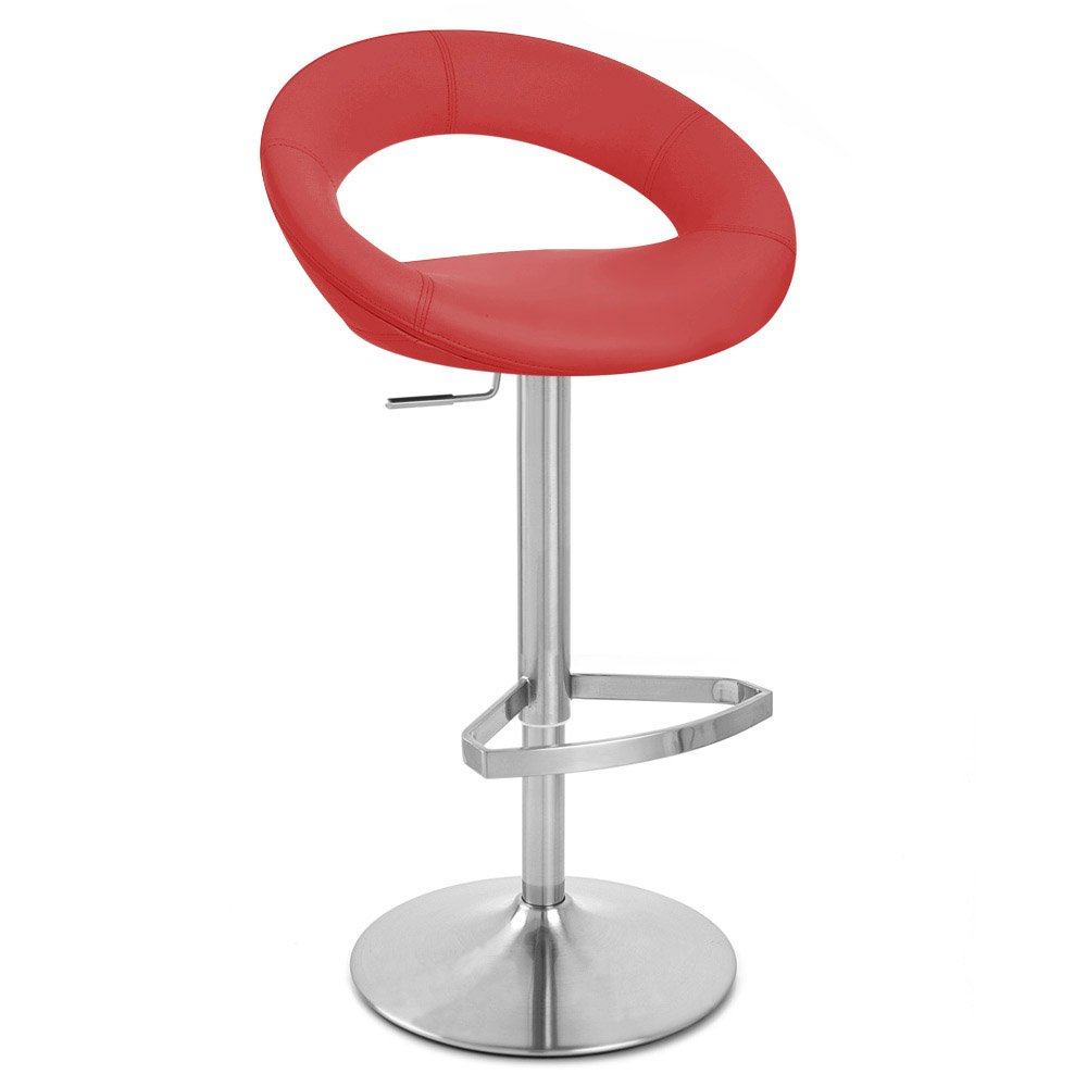 Crescent Adjustable Height Swivel Armless Bar Stool Zuri