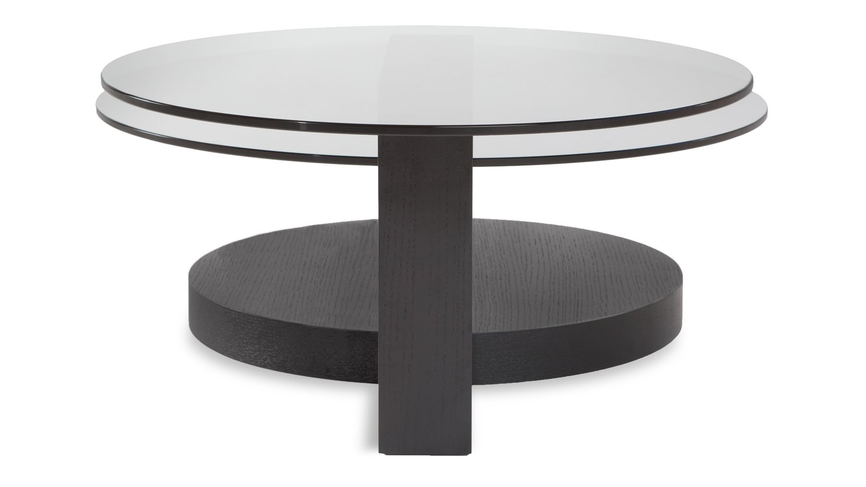 Dakota Black Coffee Table With Glass Shelving Zuri Furniture
