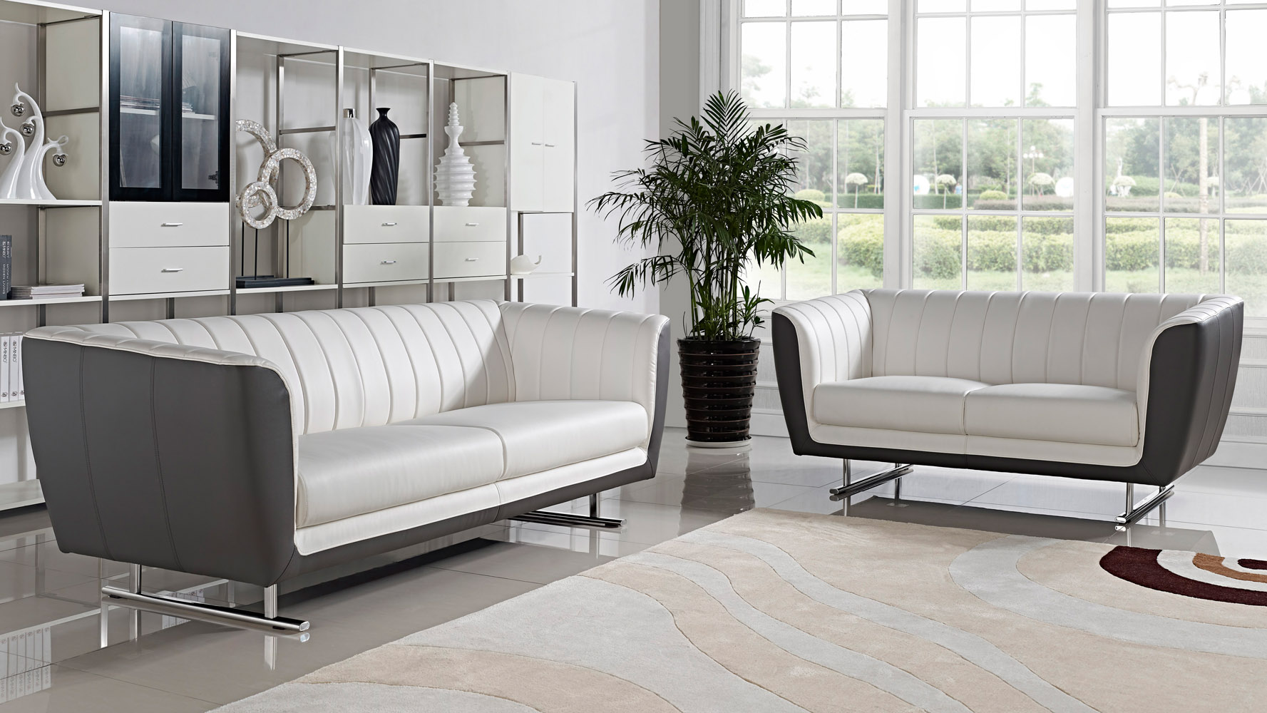 delta 3 2 1 sofa set white zuri furniture. Black Bedroom Furniture Sets. Home Design Ideas