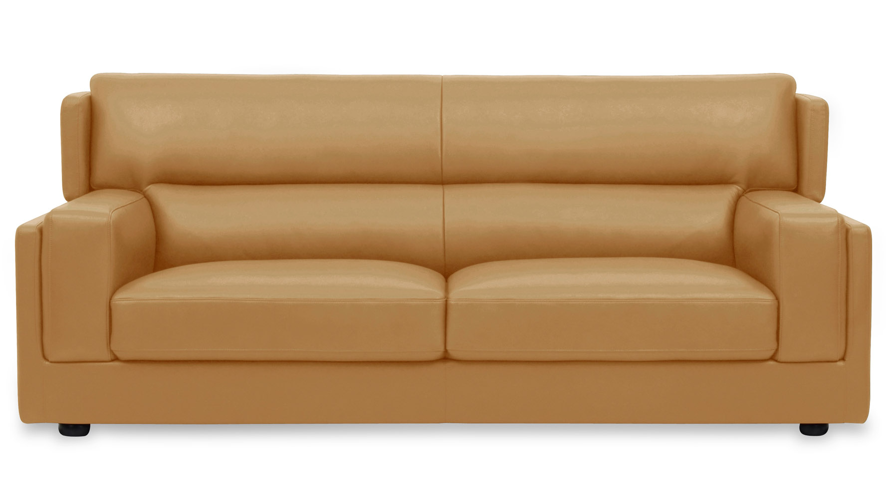 Genial Destin 3 Piece Butterscotch Leather Sofa Set With Armchair | Zuri Furniture