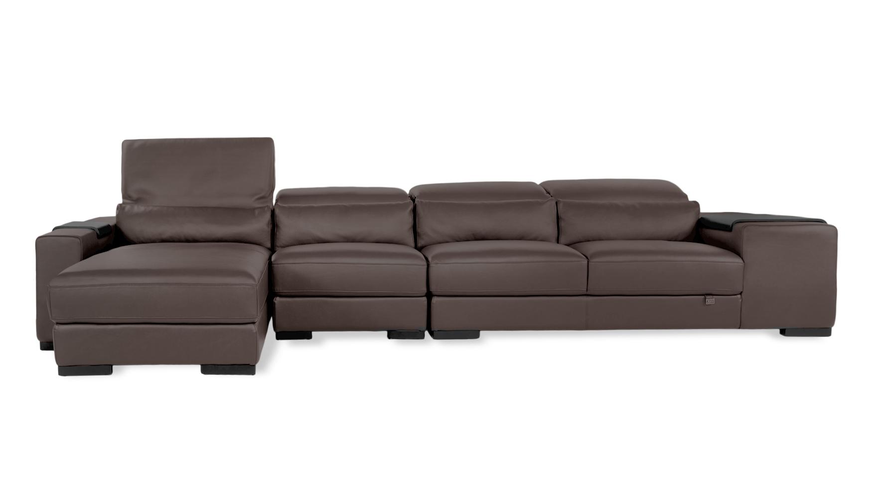 Dutch Leather Sectional Sofa  Zuri Furniture