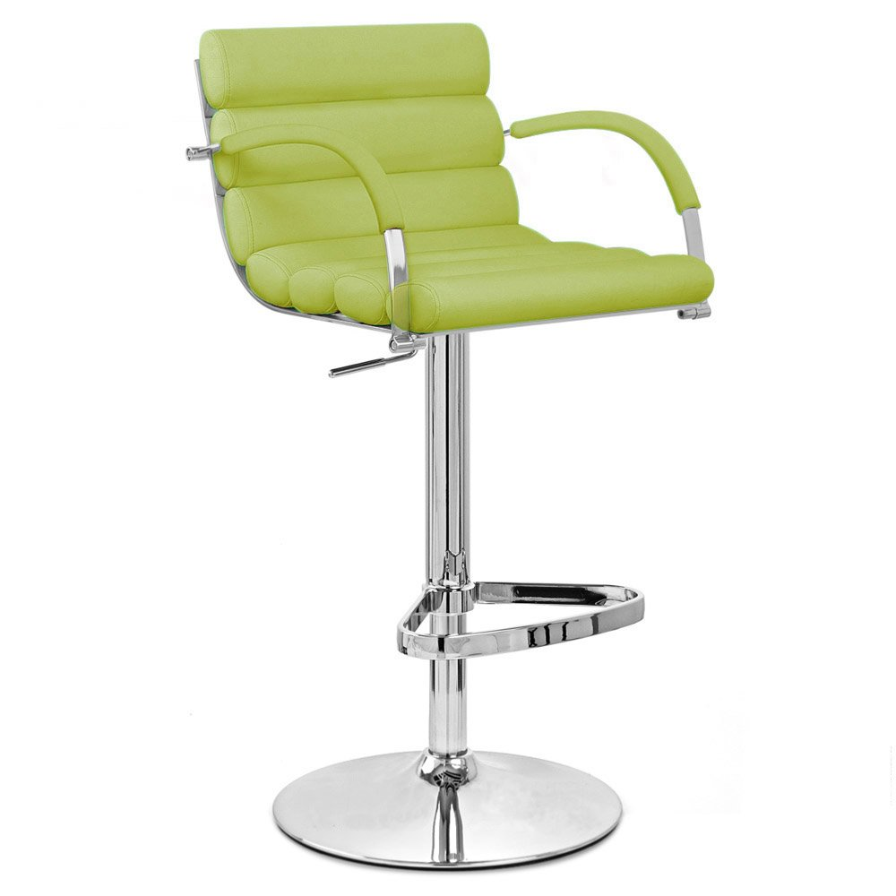 Lime Green Ego Adjustable Height Swivel Bar Stool With