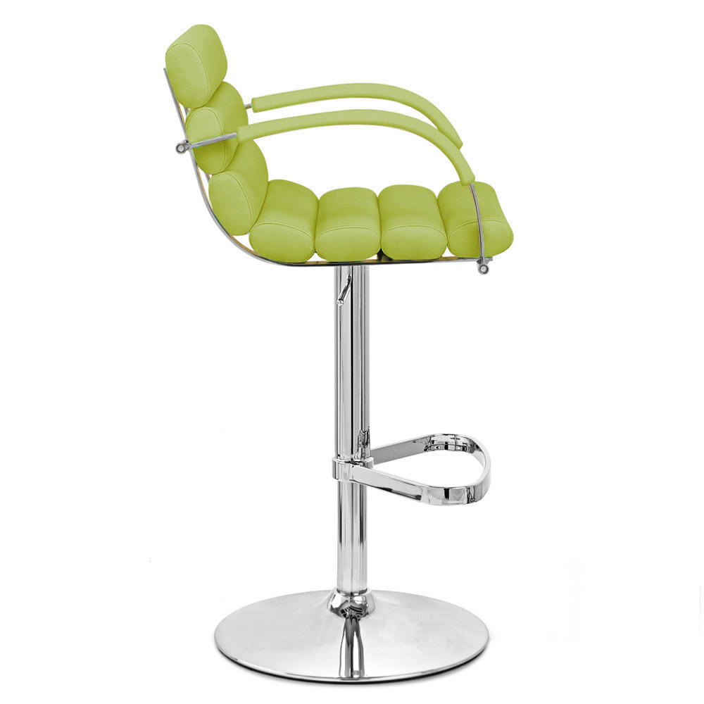 Lime Green Ego Adjustable Height Swivel Bar Stool With Chrome Base | Zuri  Furniture
