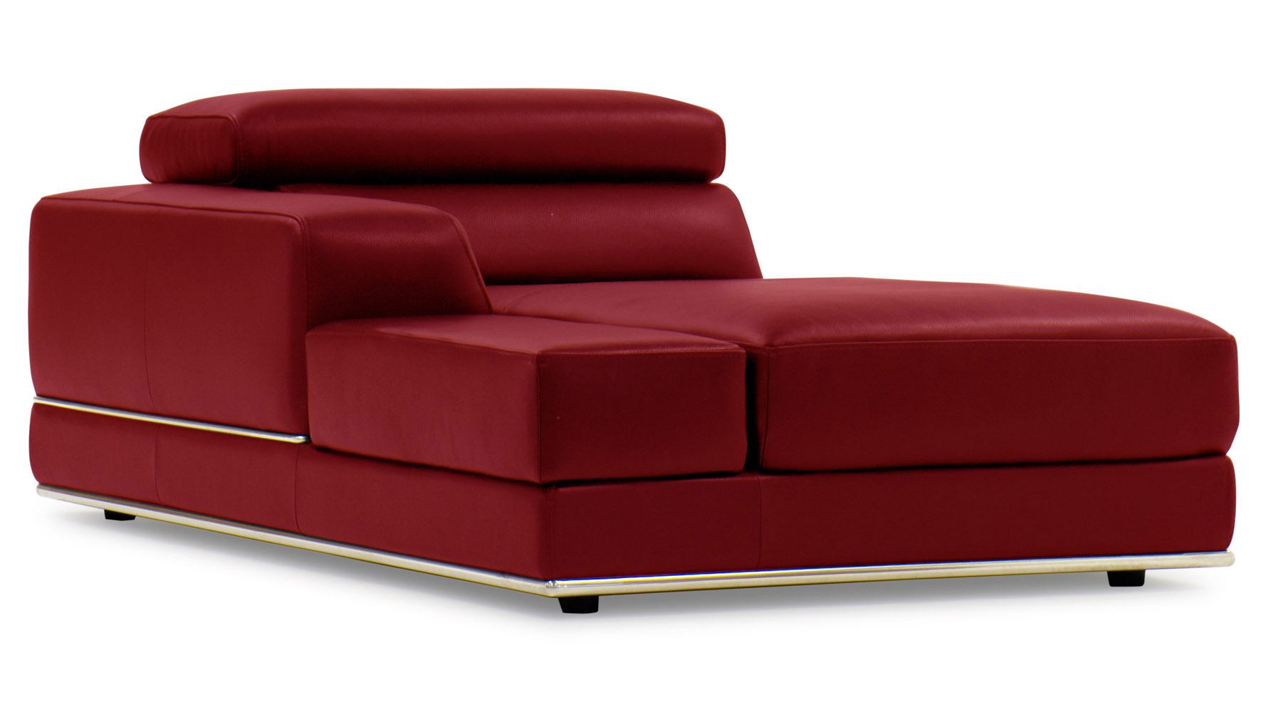 Encore Red Leather Sofa