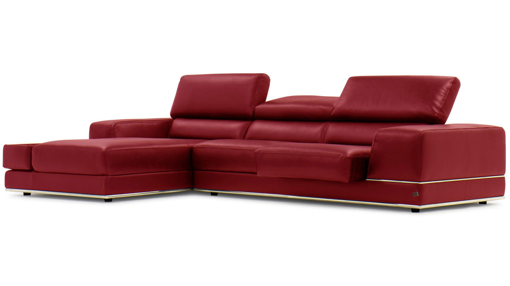 Encore Red Leather Sofa Zuri Furniture