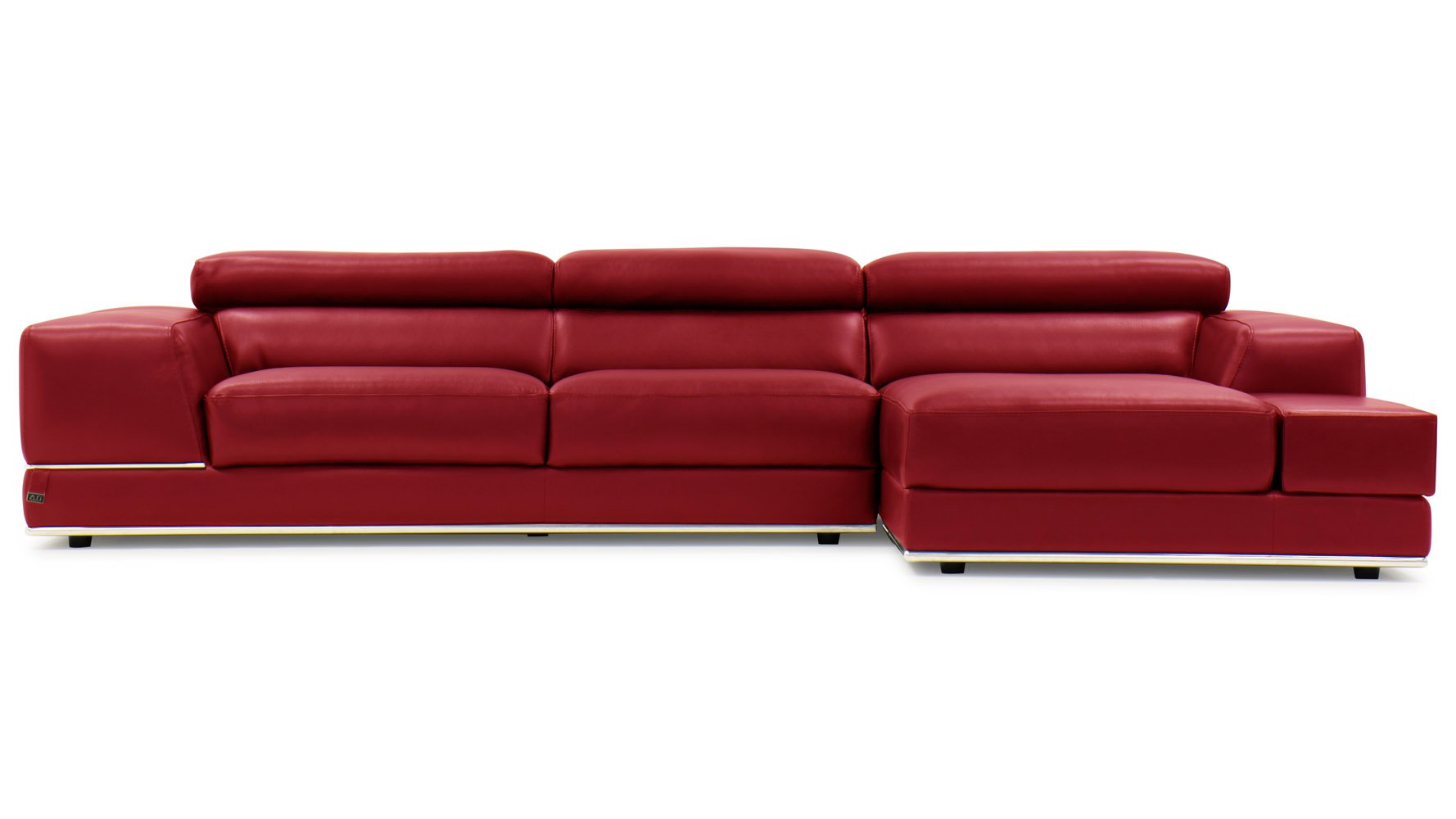 Cheap leather sectionals 2 van dyke sectional red for Red sectional sofas cheap