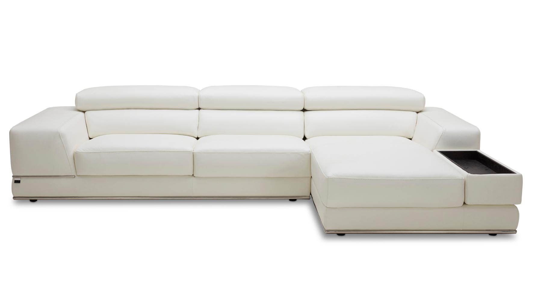 white leather chaise encore white leather sectional sofa zuri furniture 21984 | encore white leather sofa right chaise 1