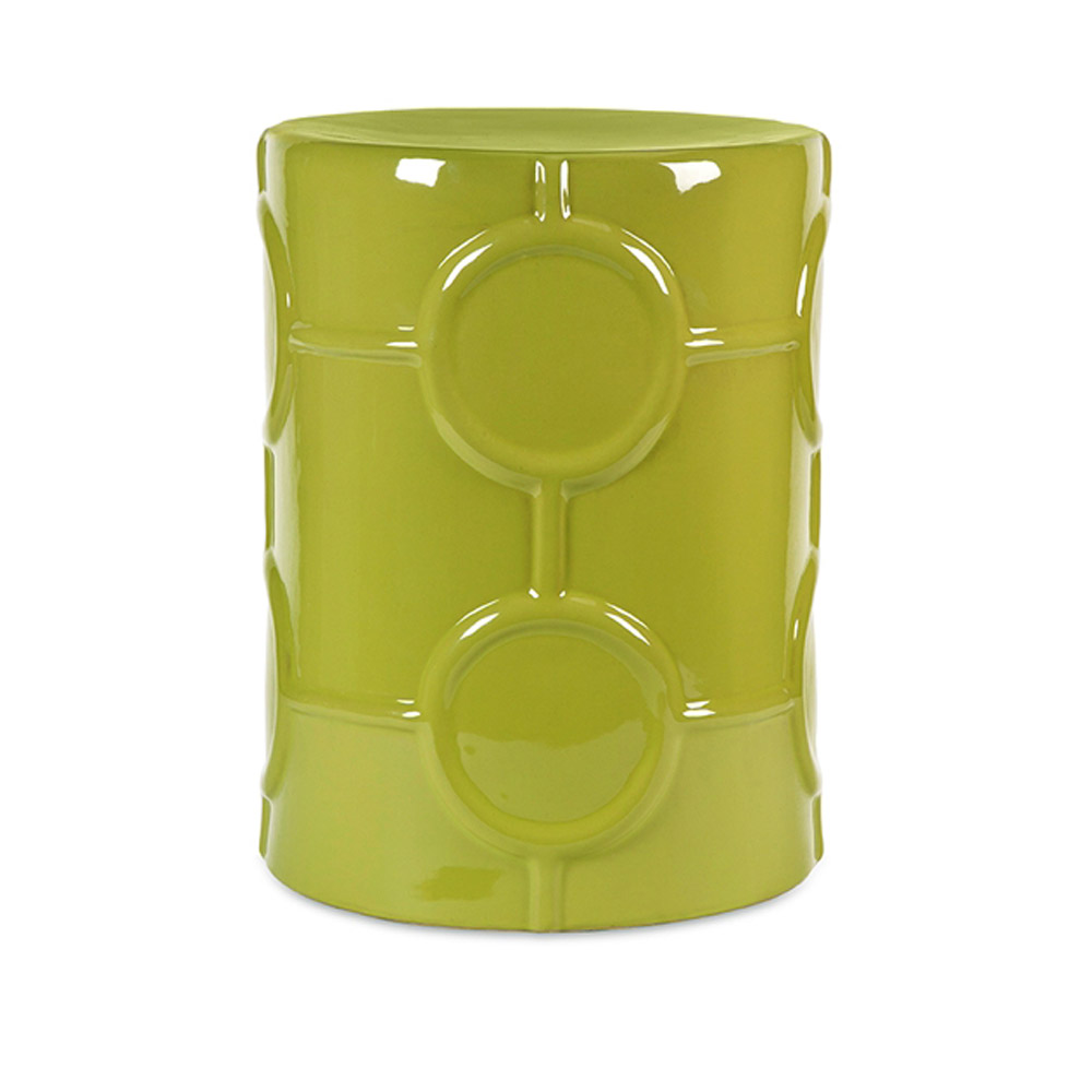 Essentials green apple ceramic garden stool zuri furniture for Furniture 888 formerly green apple