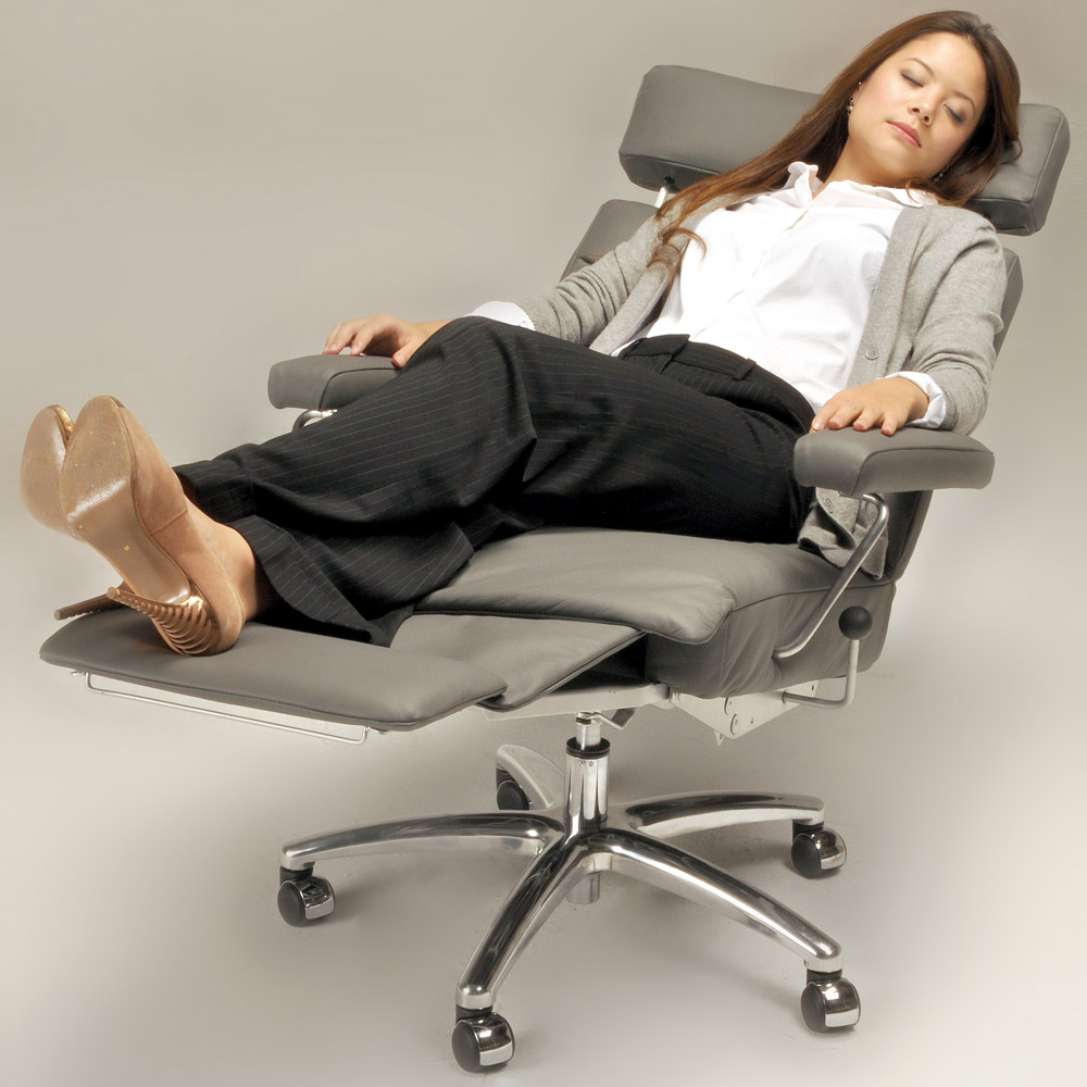 Adele Leather Executive Reclining Office Chair Zuri
