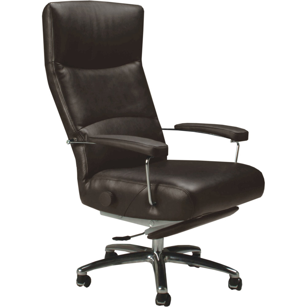 Josh Leather Executive Reclining Office Chair  Zuri Furniture