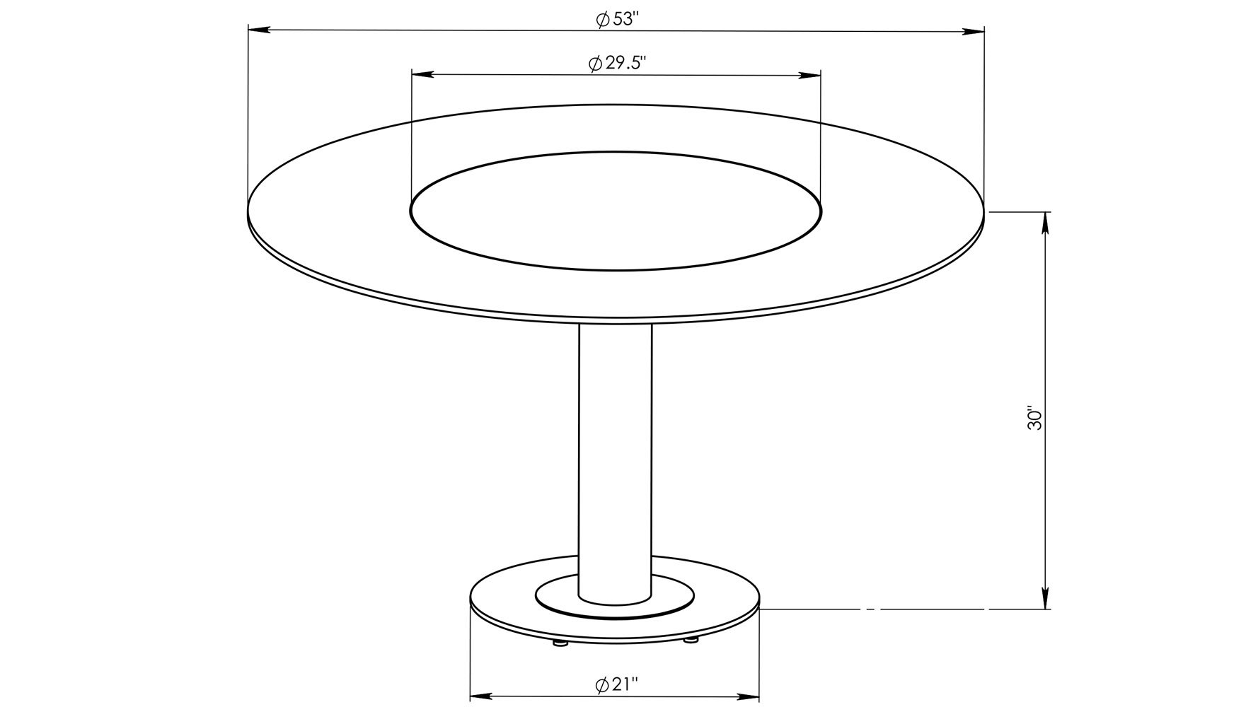 Fabulous Fiore Modern Round Glass Dining Table With Chrome Base Zuri Furniture