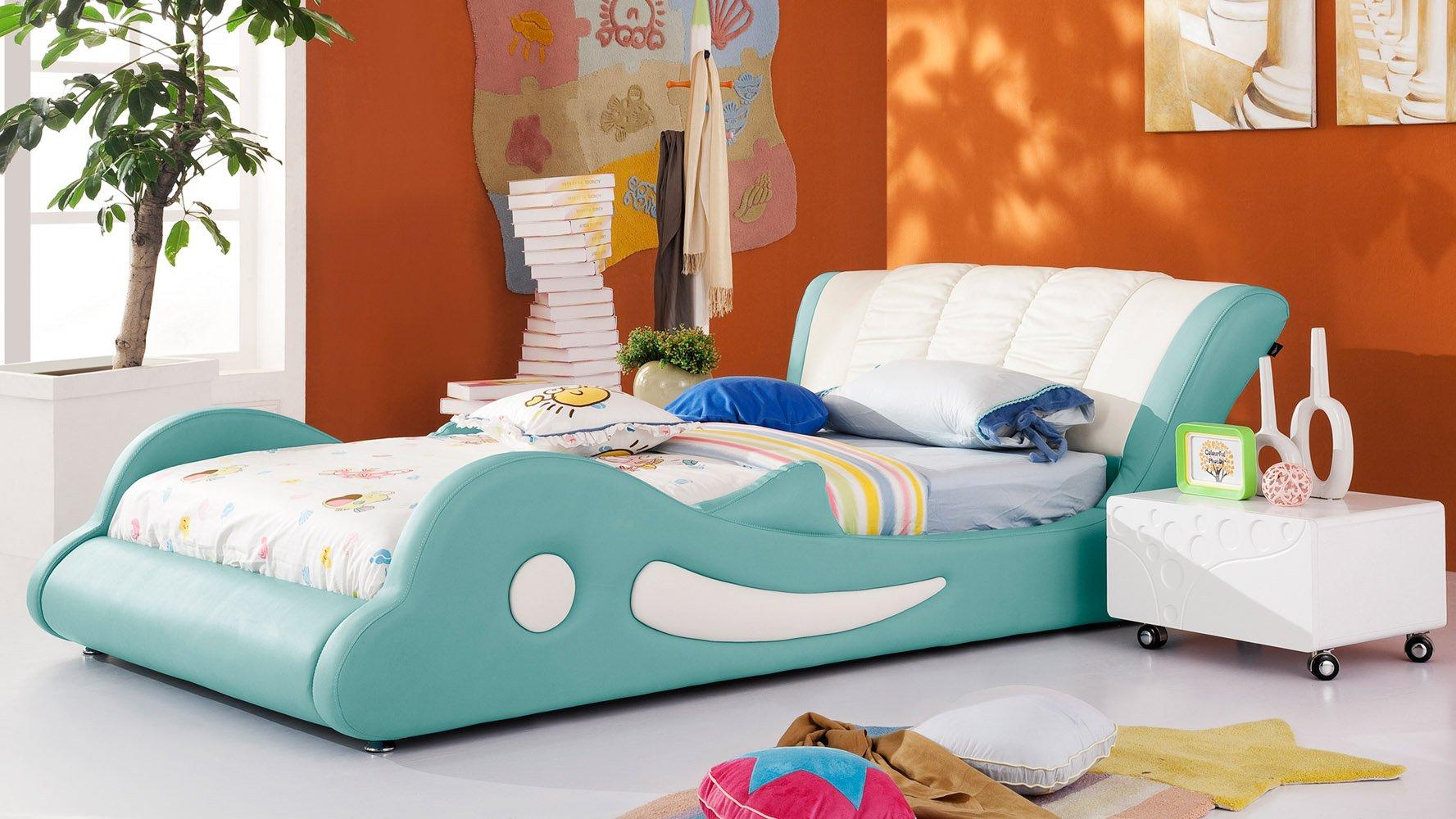Flipper Kids Leather Bed