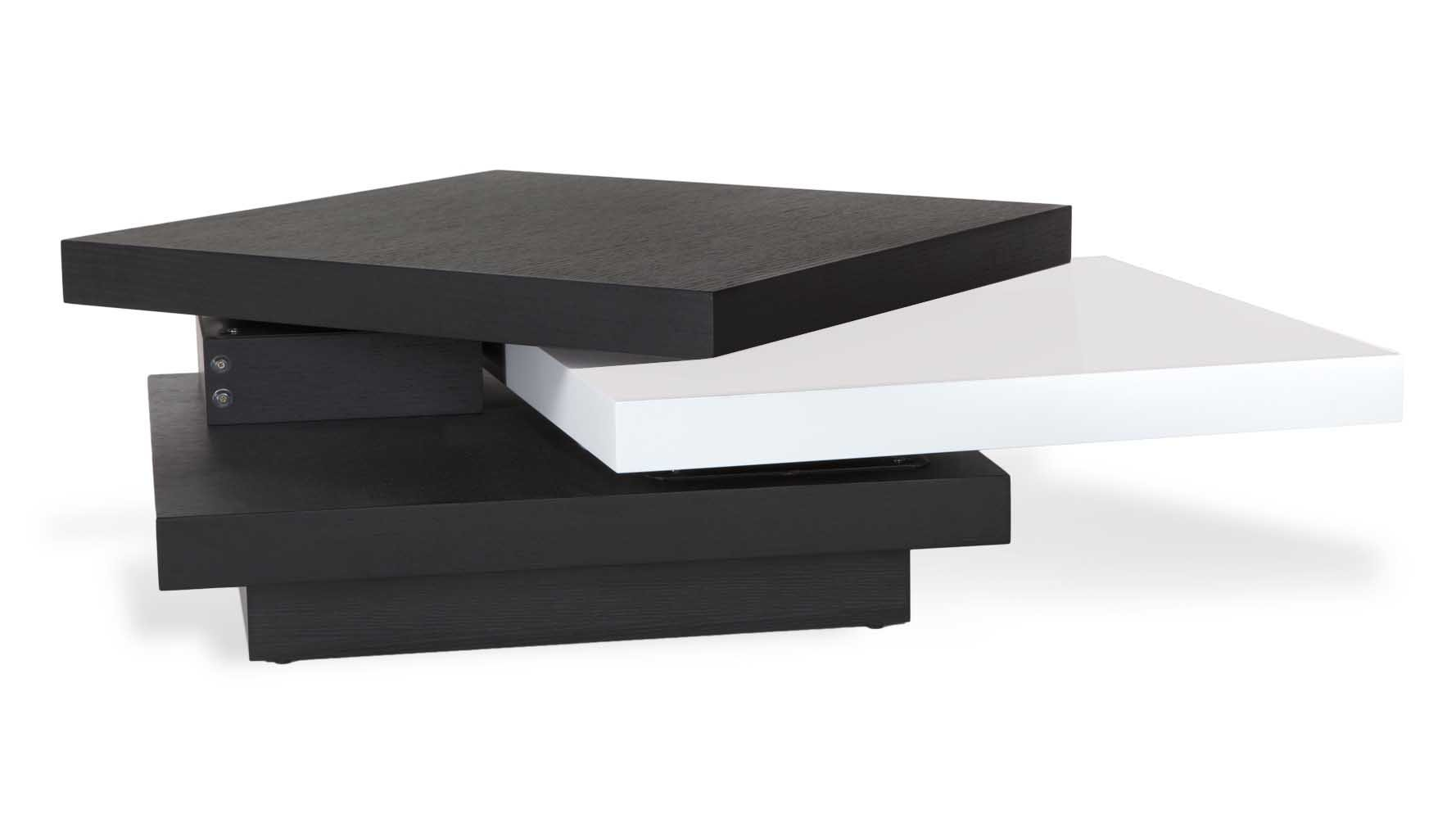 Floyd black and white coffee table with rotating shelf zuri floyd black and white coffee table with rotating shelf zuri furniture geotapseo Image collections