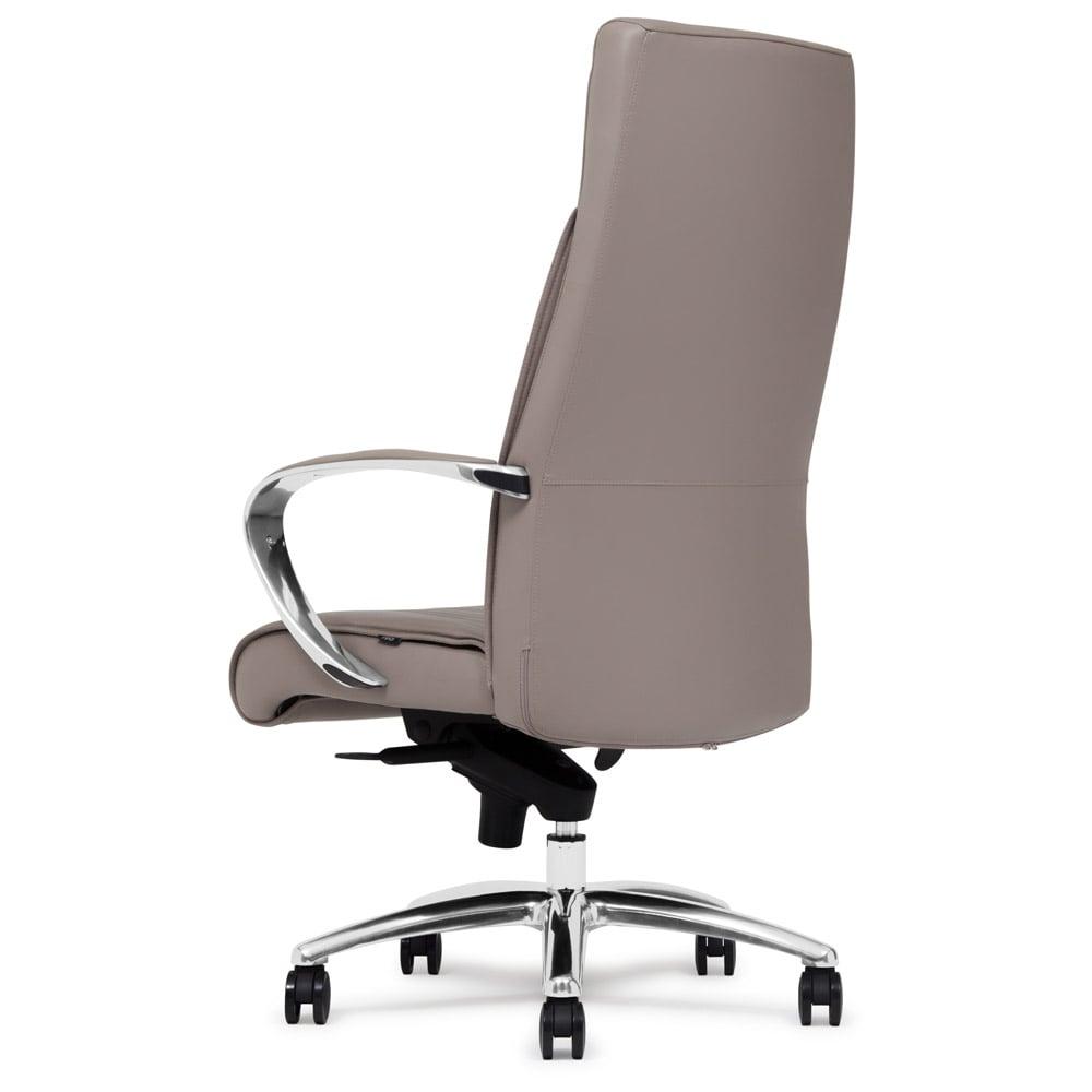 Forbes Genuine Leather Aluminum Base High Back Executive