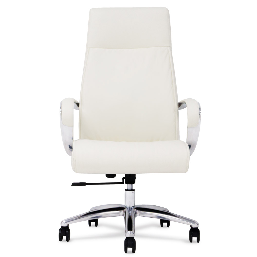 Delicieux Forbes Leather Executive Chair   White