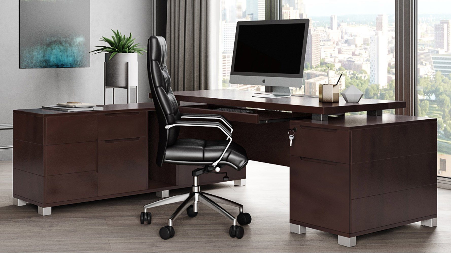 Desk With Chair 2 Person Work Desk