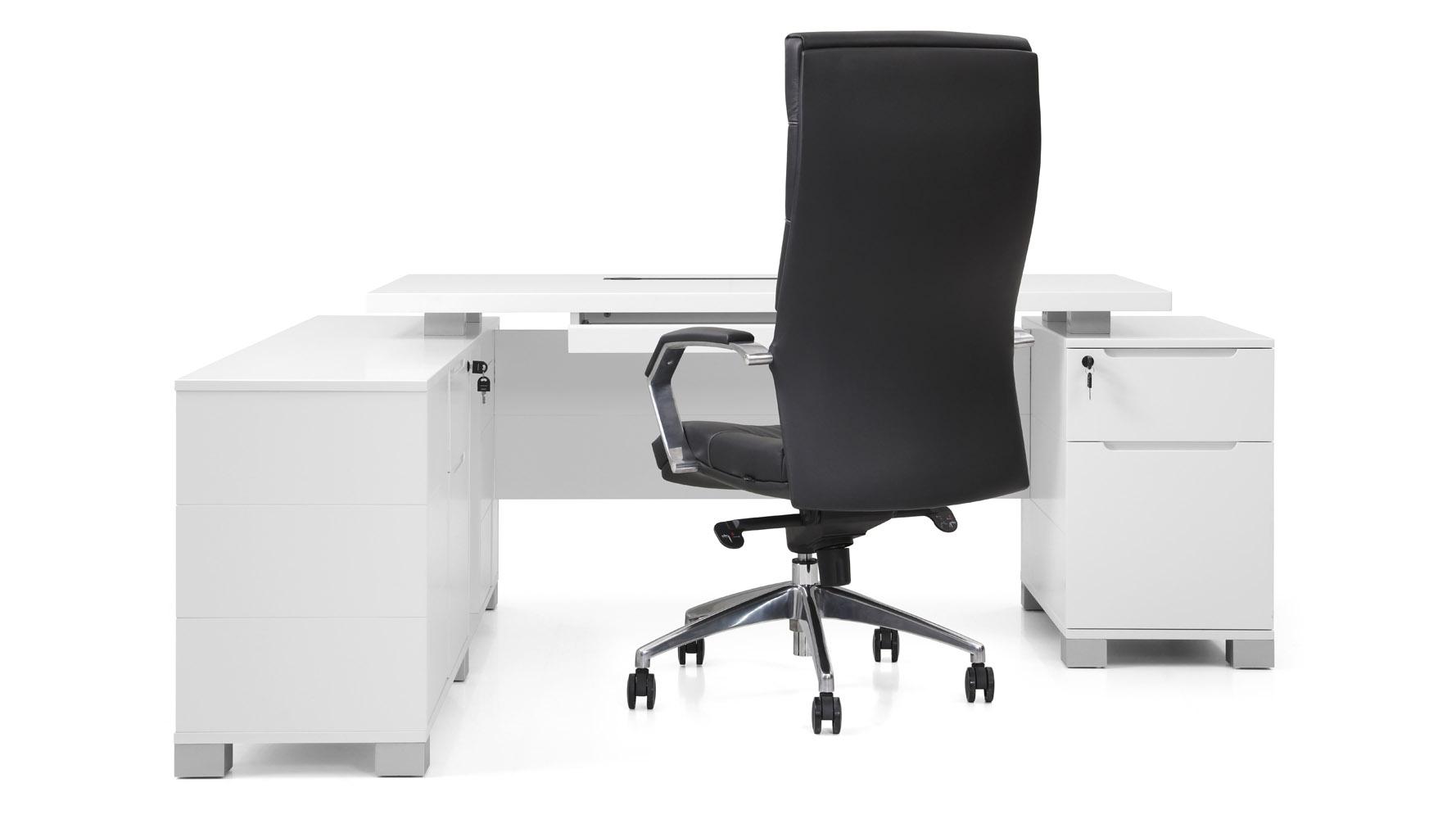 Ford Desk With Return White