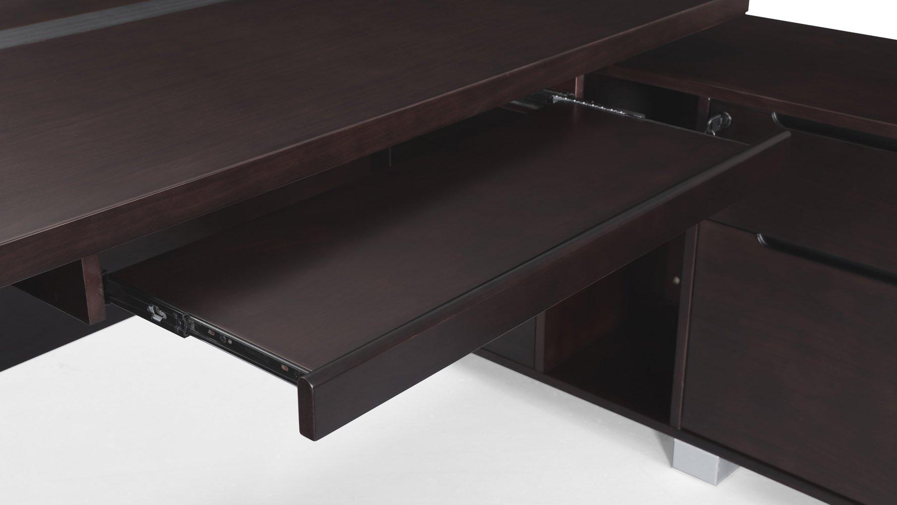 Ford Desk With Return Dark Walnut