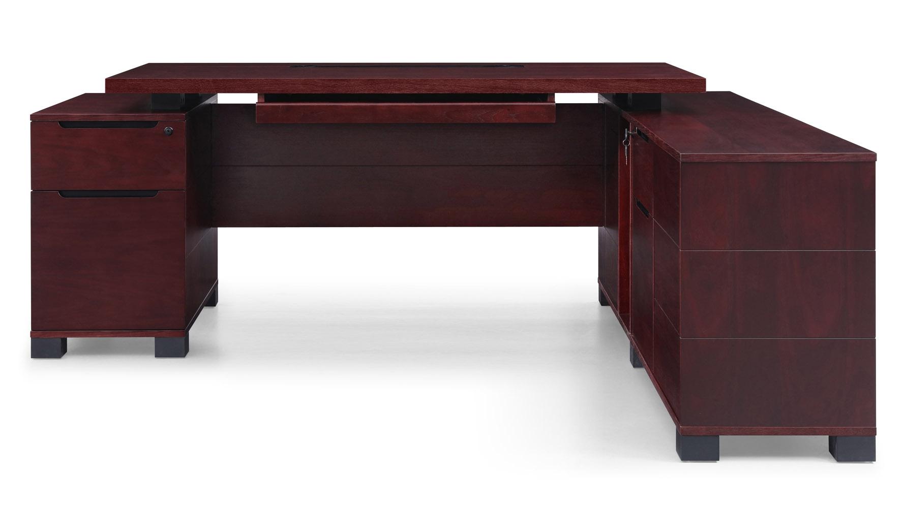 Ford Mahogany Executive Desk With Return Modern