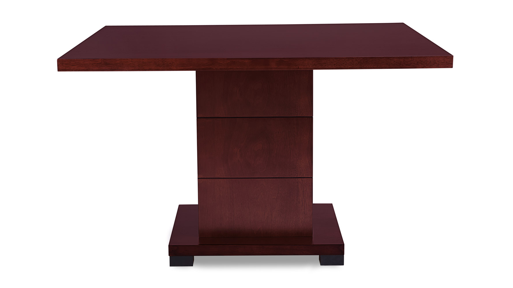 Ford Executive Modern Conference Table In Mahogany Wood Square - Large square conference table