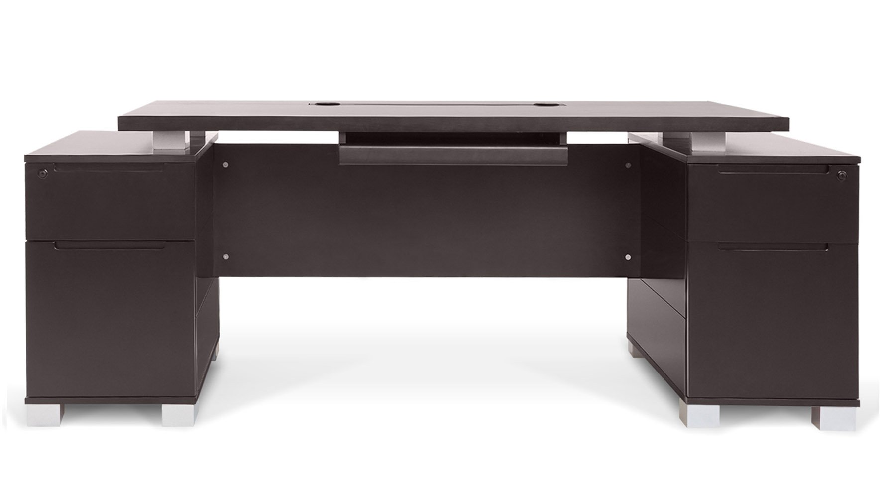 ford executive modern desk with filing cabinets  dark wood finish  - ford executive modern desk with filing cabinets  dark wood finish  zurifurniture