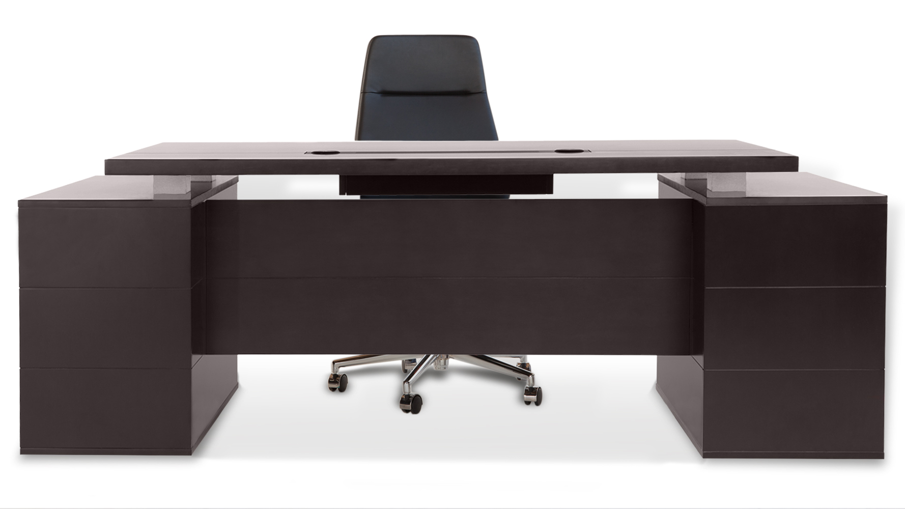 Modern Office Desk: Ford Executive Modern Desk With Filing Cabinets