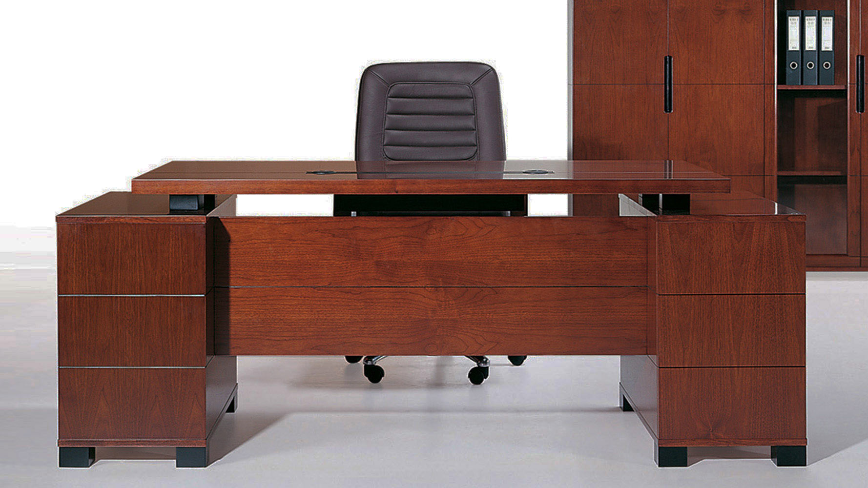 ford executive modern desk with filing cabinets  light wood  - ford executive modern desk with filing cabinets  light wood finish  zurifurniture