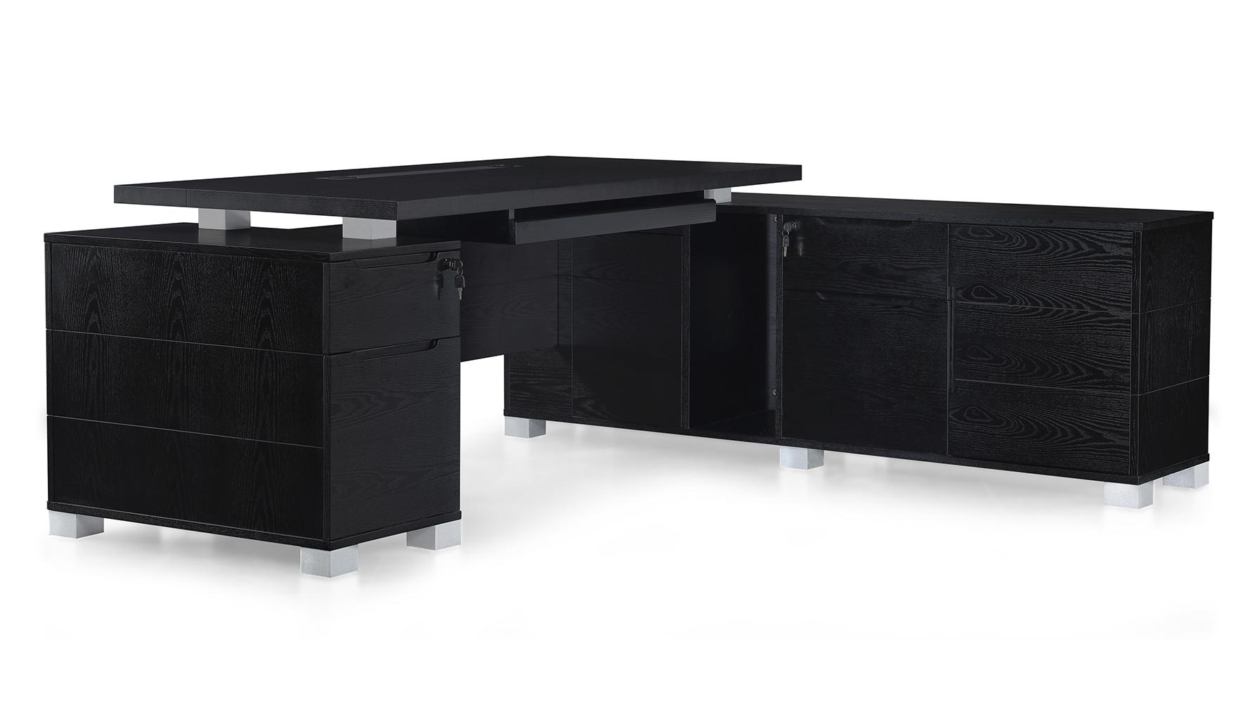 Ford Desk With Return Black Oak