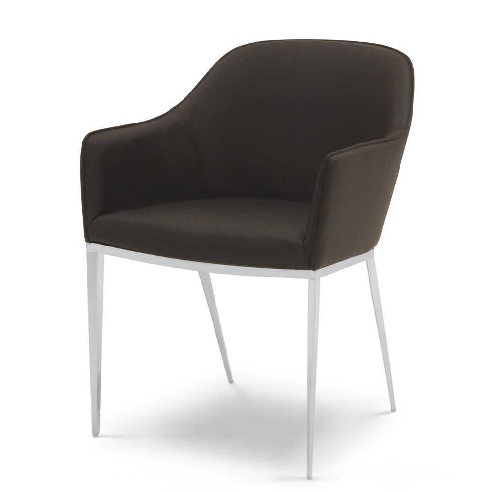 galway modern leatherette dining chair with metal frame zuri furniture. Black Bedroom Furniture Sets. Home Design Ideas