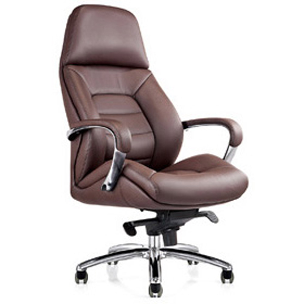 Gates Genuine Leather Aluminum Base High Back Executive  : gates genuine leather aluminum base office chair dark brown3 from www.zurifurniture.com size 1000 x 1000 jpeg 113kB