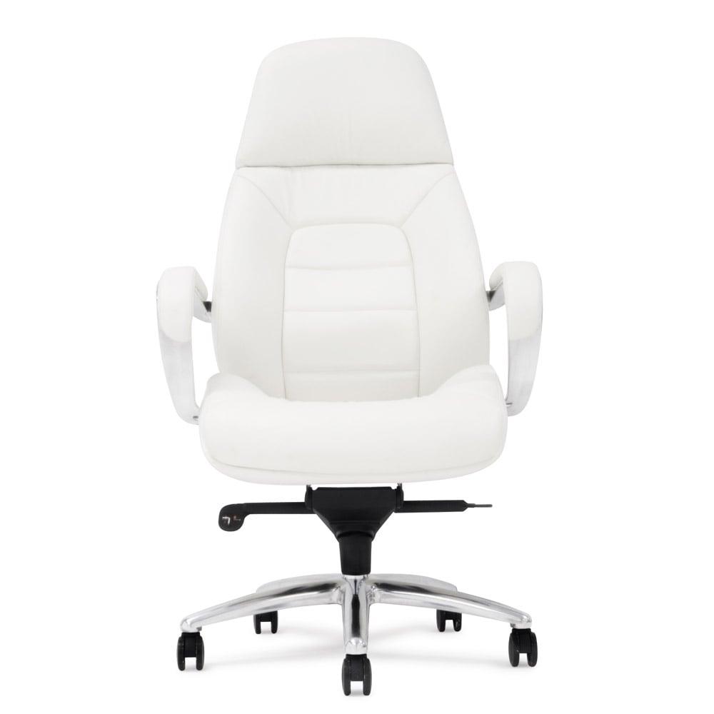 Gates Leather Executive Chair - White