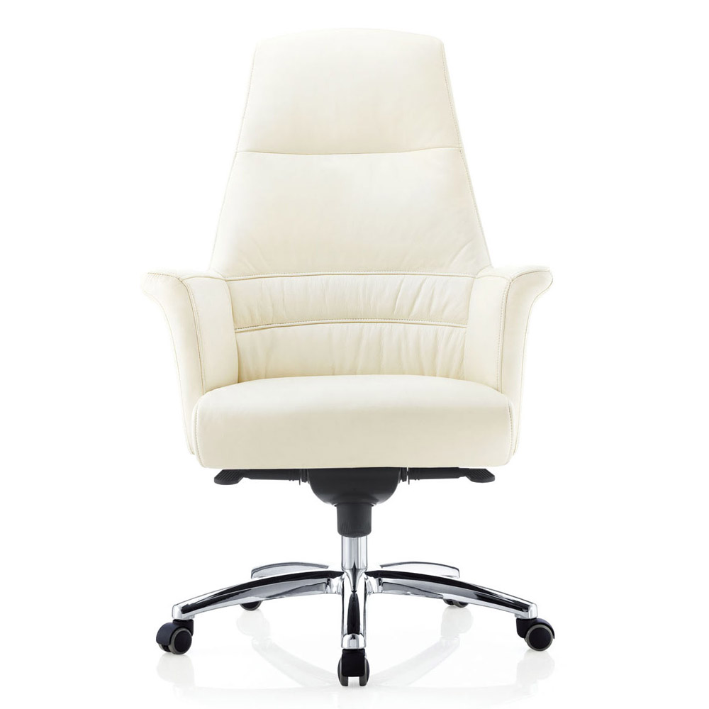 Geffen Genuine Leather Aluminum Base High Back Executive  : geffen genuine leather aluminum base high back executive chair cream 1 from www.zurifurniture.com size 1000 x 1000 jpeg 95kB