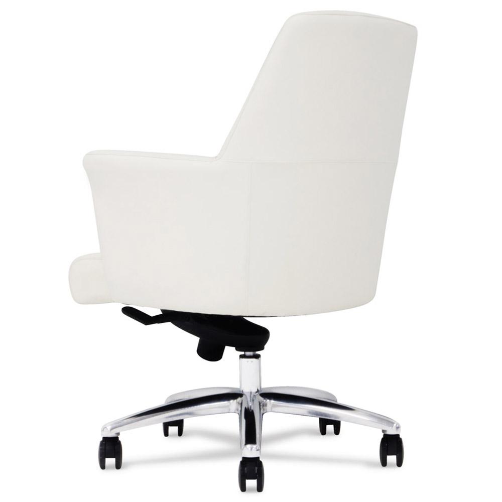 Geffen Genuine Leather Aluminum Base Low Back Executive Chair | Zuri  Furniture