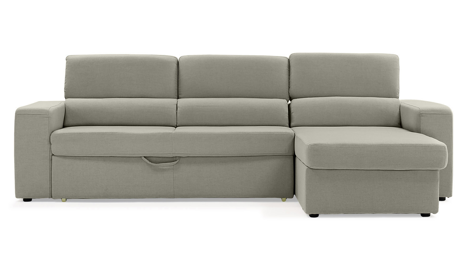 Clubber Sleeper Sectional Right Chaise Light Gray