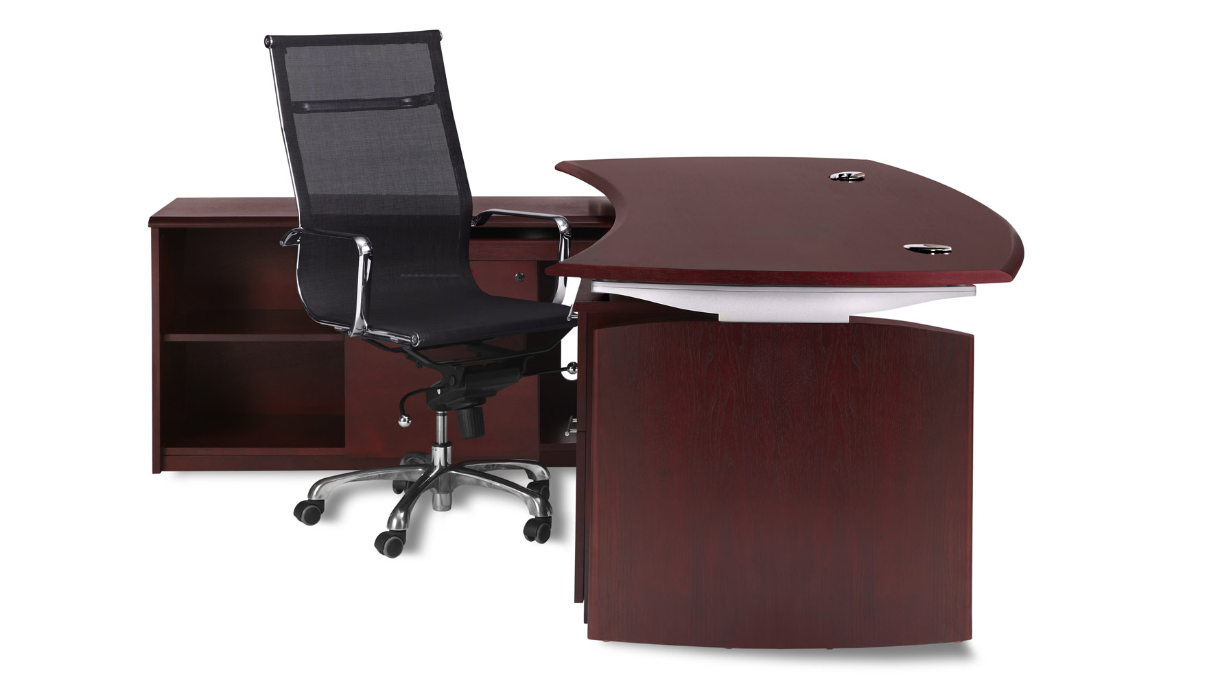 harrison mahogany executive desk with rolling return and file