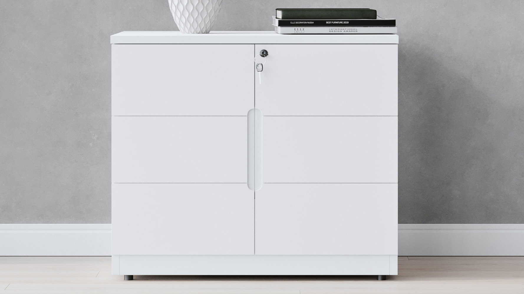 Hayes White Small Cabinet Modern